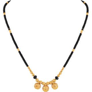 Asmitta Traditional 3 Wati Gold Plated Princess Style Mangalsutra For Women