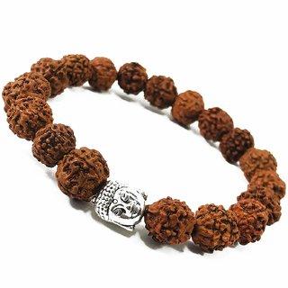 Rudraksha Bracelet (5 Mukhi Rudraksh - 6mm) panchmukhi Handmade Yoga Mediation Energised Buddha Bracelet for Men and Wom