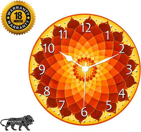 KARTIK11X11 Inches Designer Wall Clock for Home/Living Room/Bedroom/Kitchen and Office