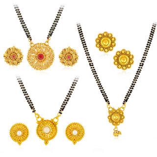 Sukkhi Astonish Gold Plated Mangalsutra Combo For Women