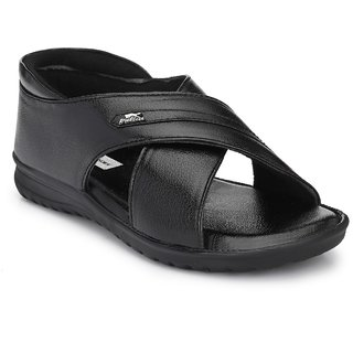 Bucik Black Synthetic Leather Sandal