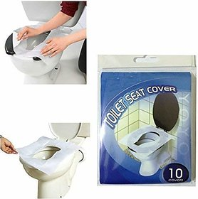REGAL Flushable and Disposable Paper Toilet Seat Covers to Avoid Direct Contact with Unhygienic Seats (Pack of 10 pcs)