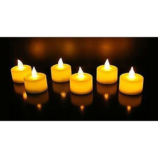 LED Tealight Candles Pack of 6 for Diwali