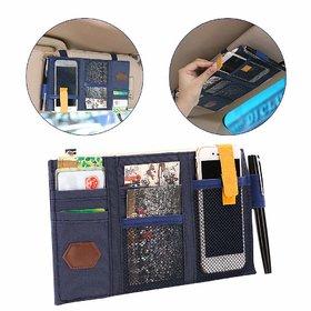 REGAL Visor Storage Case Multi-Functional Car Sun Visor Holder Pouch with Zipper Cross-Border Storage Organizer Bag Car