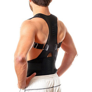 Lionix Posture Corrector Back Brace Waist Wide Straps Support with Adjustable Size for Upper Back Pain Relief, Improve Sitting and Standing Posture