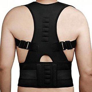 HBNS Premium Posture Corrector for Lower and Upper Back Pain  Adjustable magnetic Posture correction belt band posture corrective brace body shaper strap for Men  Women