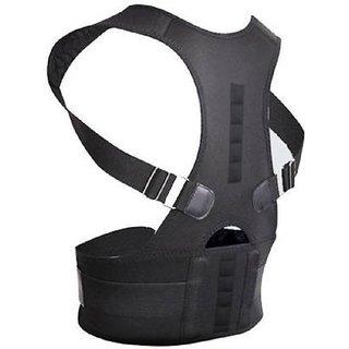 HBNS Premium Posture Corrector for Lower and Upper Back Pain | Adjustable magnetic Posture correction belt| band posture corrective brace body shaper strap for Men & Women