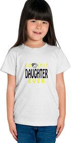 Haoser printed girls regular fit tshirt pack of 1, white kids printed cotton tshirt