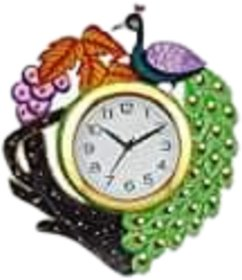 METALCRAFTS Designer Wall Clock, wooden, home decor, click size 30 cm, dial size 20 cm