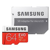 Samsung Grade 3, Class 10 64GB SDMemory Cards with SD Adapter MONSOON