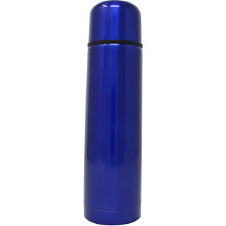 Rident Kitchen Stainless Steel Vacuum Insulated Flask (Double Wall Water Bottle)  Hot  Cold Blue - 500 ml