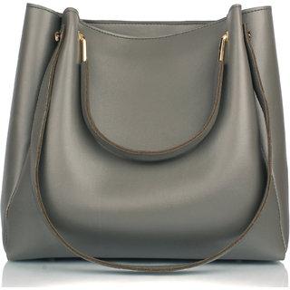 Mammon Women's stylish Handbags (R-bib-Grey)