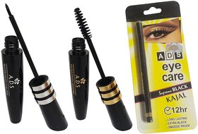 ADS Water Proof Eye Liner / Mascara / Kajal  (Set of 3)