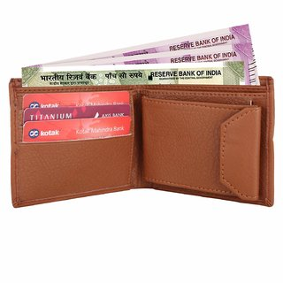 Tan Formal Purse for Man Artificial Leather Men's Wallet Multiple Business Card Holder Casual Wallet Gift