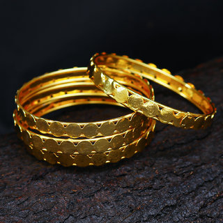 Sukkhi Alloy Gold Plated Wedding Bangle For Women