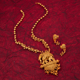 Sukkhi Bahubali Matte Finished Gold Plated Necklace Set For Women
