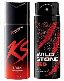Wild Stone Spray For Men With KS Spray - Pack Of 2 (150 ml each) (Variants as per availability)