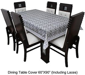 CASA-NEST Designer Waterproof Dining Table Cover 6 Seater 60x90 inches, Multicolor