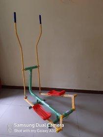 Indoor elliptical cross trainer