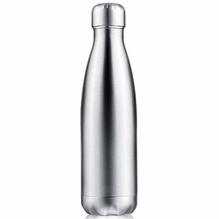Rident Kitchen Stainless Steel Vacuum Insulated Flask (Double Wall Water Bottle)  Hot  Cold - Silver 1000 ml