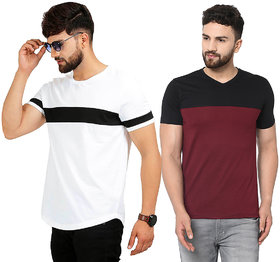 Black Studds Cotton Men's Tshirt Pack Of 2 NR