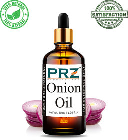 PRZ Onion Cold Pressed Carrier Oil (30ML) - Pure Natural & Therapeutic Grade Oil For Skin Care & Hair ReGrowth