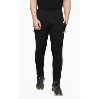 ISHU Solid Men Black Track Pants