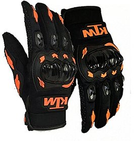 Spidy Moto Duke Rider Safety Polyester Motocross Riding Gloves with Hard Knuckles for Men and Women (Medium)