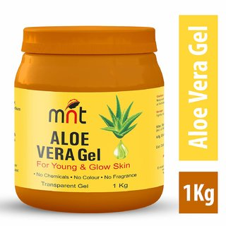 MNT ALOE VERA Gel For Young  Glow Skin 1 Kg (No Chemicals, No Colour, No Fragrance)