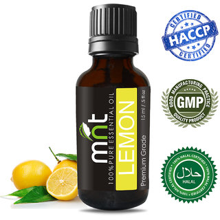 MNT Lemon Essential Oil (15Ml) 100 Pure,Natural  Undiluted Therapeutic Grade
