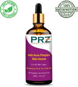 PRZ Anti Acne Pimples Skin Serum (30ML) For All Skin Types - Acne Scars  Dark Spots Removal, Pimples, Pigmentation  Re