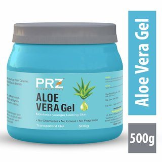 PRZ 100 Pure Natural ALOE VERA GEL Transparent (500Gram) For Body  Face Moisturizing, Hair Gel, Multipurpose Beauty Sk