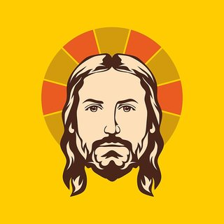 jesus christ face  (size:12x18 inch)  Sticker Paper Poster, 12x18 Inch