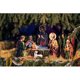Christmas manger god posterchristian god posterjesus posterJesus lovereligious posterposter for every room,gym,office(12x18 inch) Paper Print
