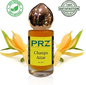 PRZ Champa Attar Roll-on For Unisex (10 ML) - Pure Natural Premium Quality Perfume (Non-Alcoholic)