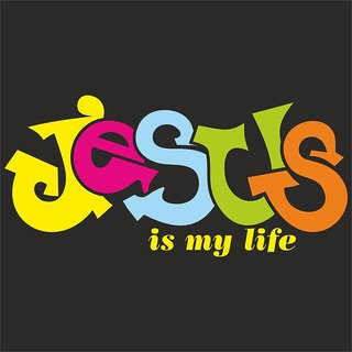 Jesus is my life |(12x18 inch) Paper Print |Sticker Paper Poster, 12x18 Inch