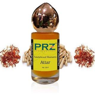 PRZ Sandalwood Shamama Attar Roll-on For Unisex (10 ML) - Pure Natural Premium Quality Perfume (Non-Alcoholic)