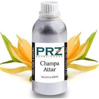 PRZ Champa Attar For Unisex (100 ML) - Pure Natural Premium Quality Perfume (Non-Alcoholic)