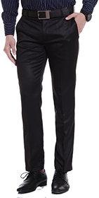 Cliths Men's Formal Trouser Slim Fit /Black Flat Front Formal Pants For Mens
