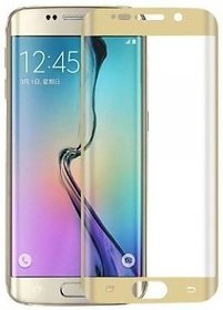 GADGETWORLD Luxury Full Edge to Edge Tempered Glass for Samsung Galaxy S6 Edge  (Gold)