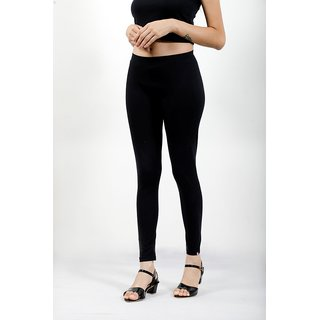 Spring Deer Ankle Length Leggings, Butterfly soft ,Cotton Spandex, 4 Way Stretchable, Sizes S, M, L, XL,XXL,Black Color