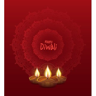 Diwali Background |Sticker Paper Poster, 12x18 Inch