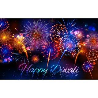 firecracker on Happy Diwali |Sticker Paper Poster, 12x18 Inch