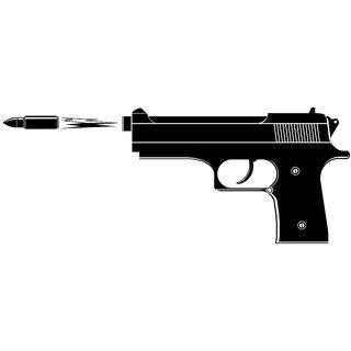 5 Ace 1 Multicolor Paper wall sticker bullet firing (12x18 inch)