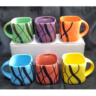 Tea cups, set of 6 pcs
