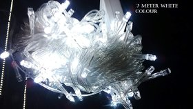 Diwali Decorative white 7 Meter LED (10no/23) String Lights Serial Bulbs