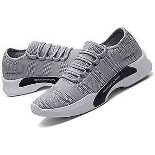 BB LAA Gray Mesh Air Mix Sports Shoes For Men