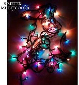 Diwali Decorative  5 Meter (DR 5mtr/32) LED String Lights Serial Bulbs - Multi Color