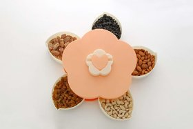 Multipurpose Flower Candy Box Serving Rotating Tray Dry Fruit Box, Candy, Chocolate, Snacks Storage Box, Ma