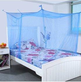 1M Elegant Nylon Adults Double Bed Multicolor Mosquito Net  (Multicolor)